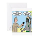 Gas Mask Greeting Cards (Pk of 10)