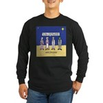 Wise Men and Frankenstein Long Sleeve Dark T-Shirt