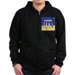 Wise Men and Frankenstein Zip Hoodie (dark)