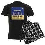 Wise Men and Frankenstein Men's Dark Pajamas