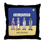 Wise Men and Frankenstein Throw Pillow