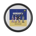 Wise Men and Frankenstein Large Wall Clock