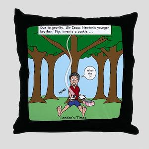 Isaac Newtons Brother Fig Throw Pillow