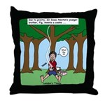 Isaac Newtons Brother Fig Throw Pillow