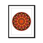 Glittering Gold Mandala Framed Panel Print