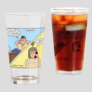 Customer No Service Drinking Glass