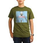 Chute Happens Organic Men's T-Shirt (dark)