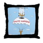 Chute Happens Throw Pillow