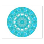 Teal Wheel of Fire Small Poster