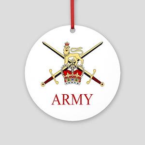British Army Round Ornament
