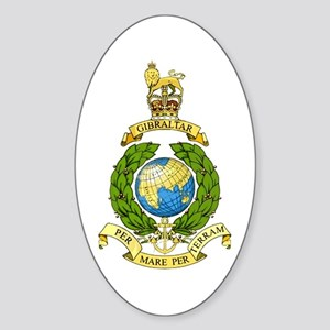 Royal Marines Sticker (Oval)
