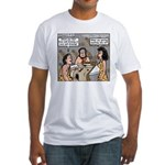 Caveman Wallpaper Fitted T-Shirt