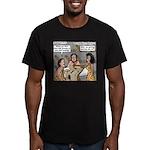 Caveman Wallpaper Men's Fitted T-Shirt (dark)