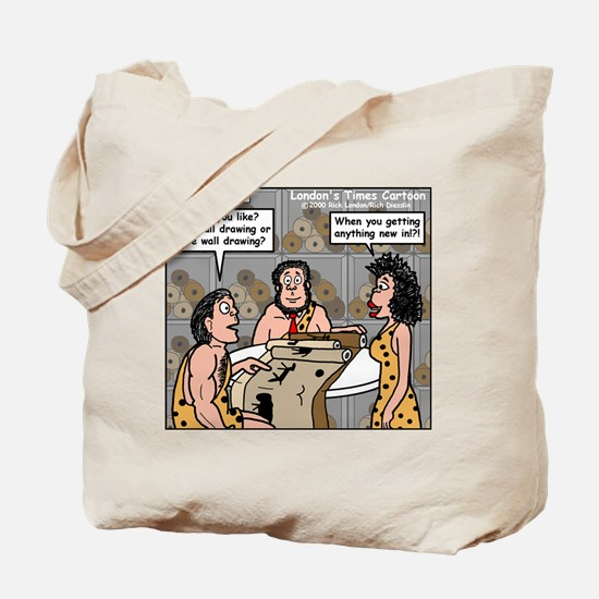 Caveman Wallpaper Tote Bag