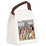 Caveman Wallpaper Canvas Lunch Bag