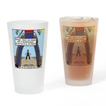 Canadian Old West Drinking Glass