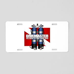 Divemaster (Scuba Tanks) Aluminum License Plate