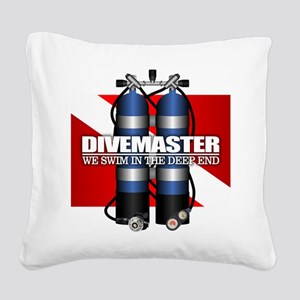 Divemaster (Scuba Tanks) Square Canvas Pillow