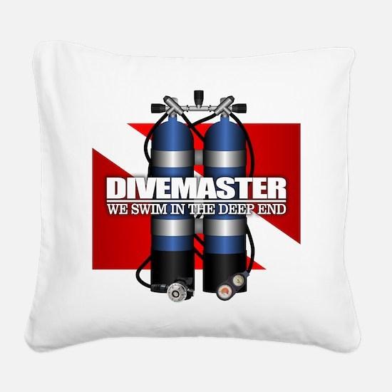 Divemaster (Scuba Tanks) Square Canvas Pillow