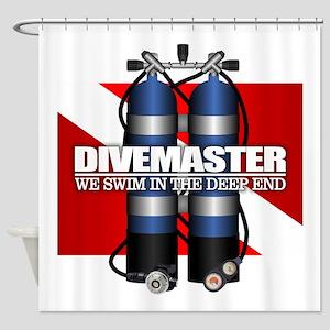 Divemaster (Scuba Tanks) Shower Curtain