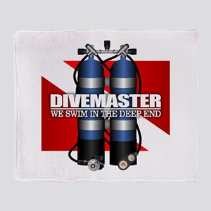 Divemaster (Scuba Tanks) Throw Blanket