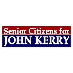 Senior Citizens for John Kerry (sticker)