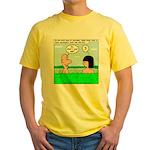 Adam and Eve Pickup Line Yellow T-Shirt