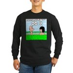 Adam and Eve Pickup Line Long Sleeve Dark T-Shirt