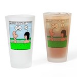 Adam and Eve Pickup Line Drinking Glass