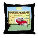 Accident Law Firm Billboard Throw Pillow