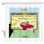 Accident Law Firm Billboard Shower Curtain