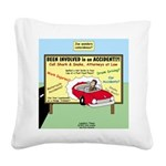 Accident Law Firm Billboard Square Canvas Pillow