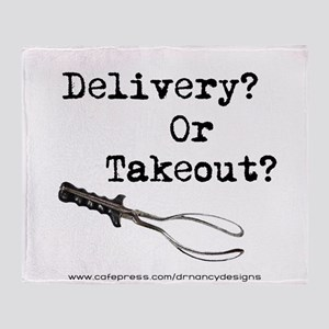 Delivery or Takeout final copy Throw Blanket