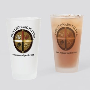 Free Leonard Peltier Drinking Glass