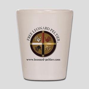 Free Leonard Peltier Shot Glass