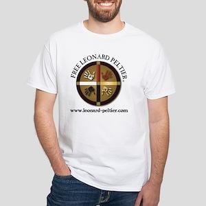 Free Leonard Peltier White T-Shirt