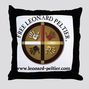 Free Leonard Peltier Throw Pillow