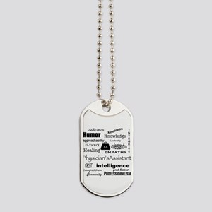 Physician Assistant Word Cloud Dog Tags