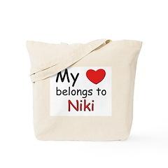 My heart belongs to niki Tote Bag