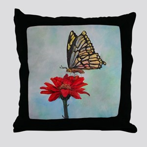 Swallowtail Butterfly Macro Painting Throw Pillow