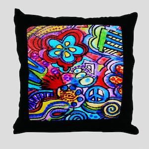 FUNKY PEACE POP ART Throw Pillow