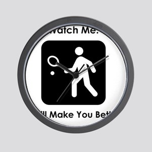 TennisWatchMe Black Wall Clock