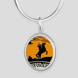 Desperados Patch Silver Oval Necklace