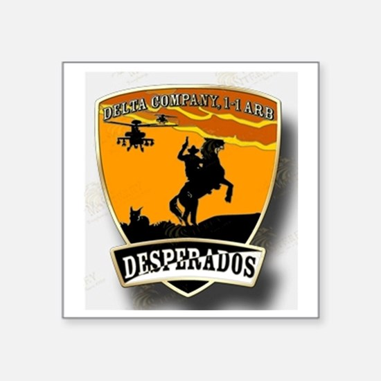 "Desperados Patch Square Sticker 3"" x 3"""