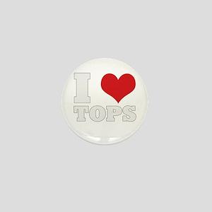 I Love Tops Mini Button