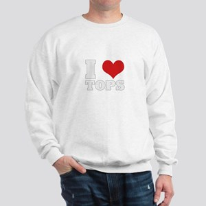 I Love Tops Sweatshirt