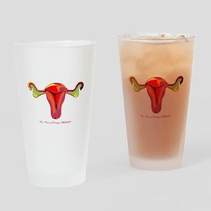 In Utero We Trust Drinking Glass