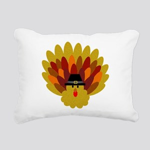 Happy Thanksgiving Turkey Rectangular Canvas Pillo