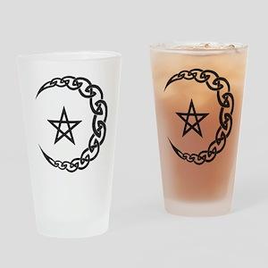 Celtic Moon Drinking Glass