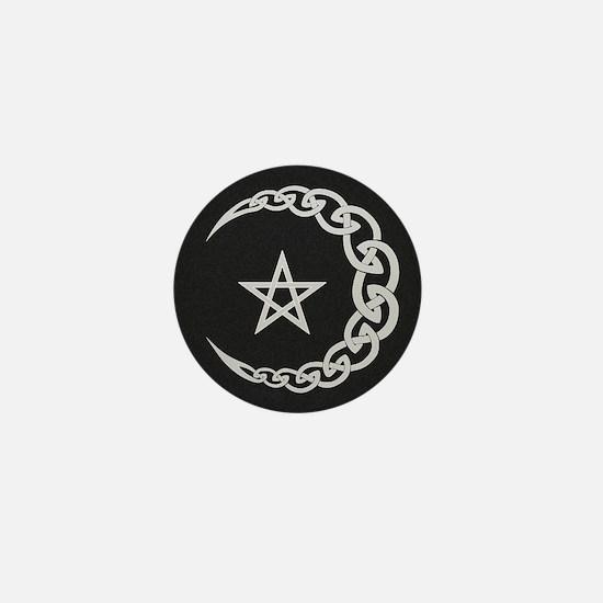 Celtic Moon Mini Button